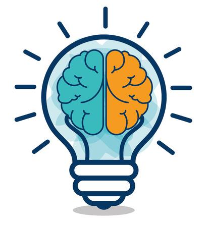 漫画脳アイデア創造的なデザインの分離ベクトル イラスト eps 10 写真素材 - 62443056