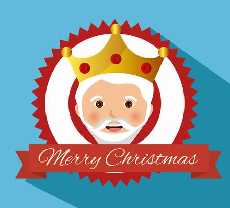 caspar: three wise kings manger design design vector illustration eps 10