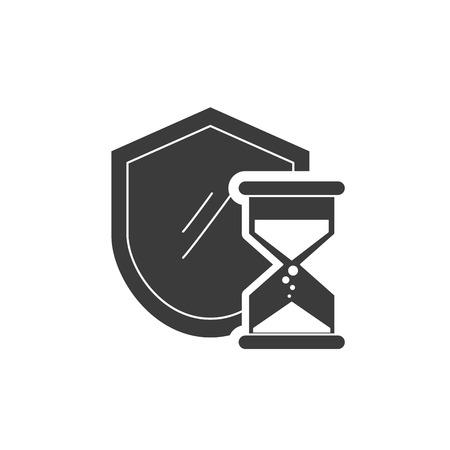financal: shield with finance icon vector illustration design