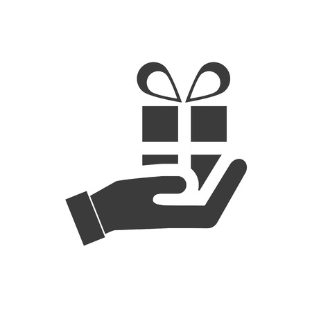 give hand: hand human give finance icon vector illustration design