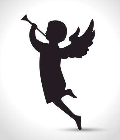 silhouette angel manger isolated design vector illustration eps 10 Illustration