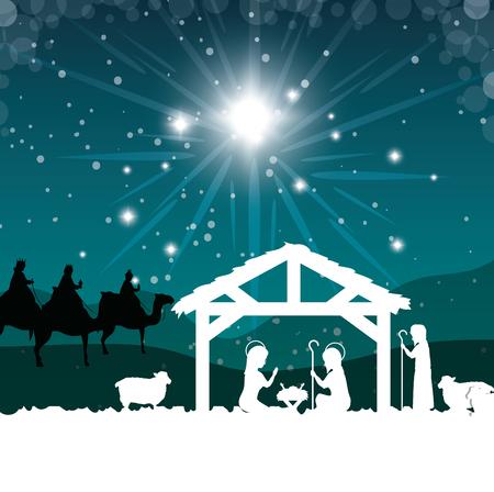 silhouette mangiatoia merry christmas isolato design illustrazione vettoriale eps 10