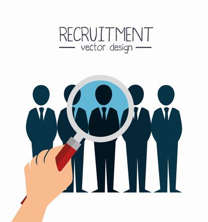 recruitment werknemer huurde geïsoleerde vector illustratie eps 10 Vector Illustratie