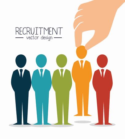 recruitment werknemer huurde geïsoleerde vector illustratie eps 10