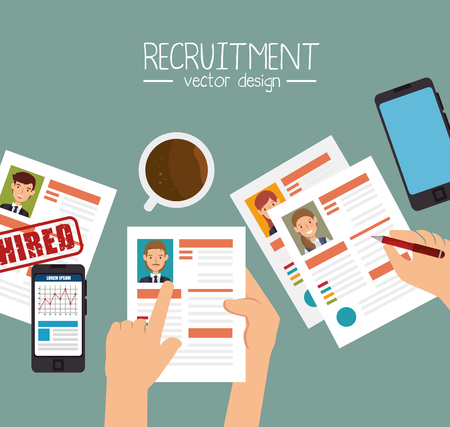 job offers: curriculum recruitment employee isolated vector illustration eps 10