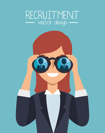 recruitment employee hired isolated vector illustration eps 10 Illustration