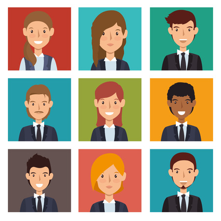 job offers: set recruitment employee hired isolated vector illustration eps 10