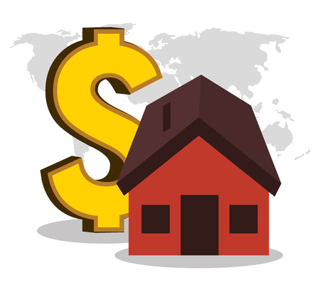 real estate house investment isolated design vector illustration eps 10