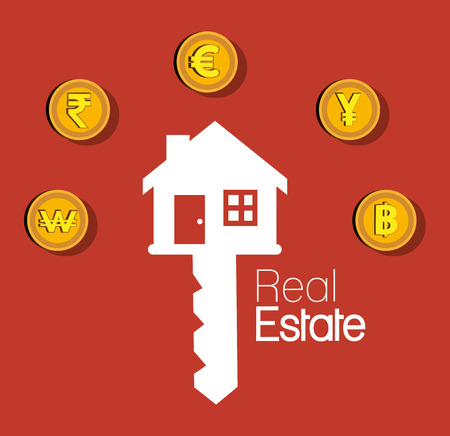 real estate investment: real estate house investment isolated design vector illustration eps 10