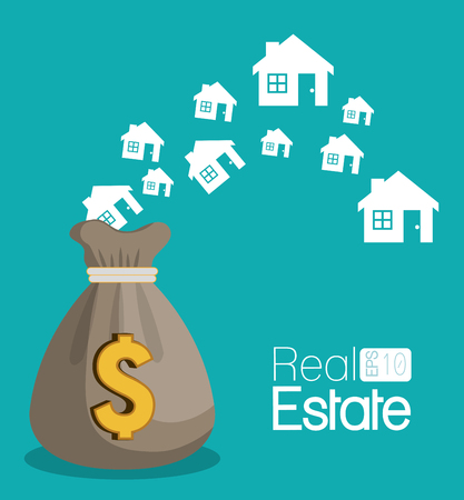 real estate house apartament rental isolated design vector illustration