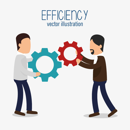 esp: avatar efficiency work colaboration design isolated vector illustration esp 10