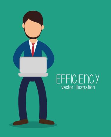 esp: avatar efficiency work technology design isolated vector illustration esp 10