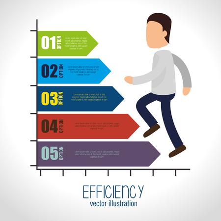 esp: avatar efficiency chart design isolated vector illustration esp 10 Illustration