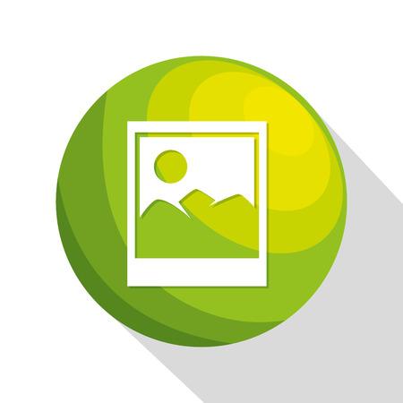 icon image upload process design isolated vector illustration eps 10