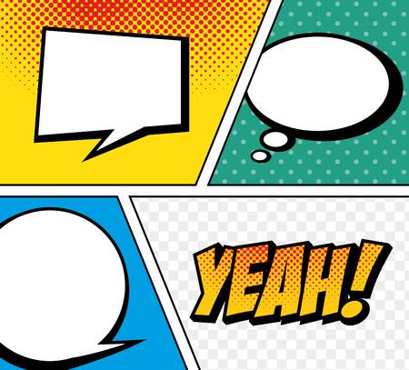 eps vector art: cartoon comic text pop art explosion vector illustration eps 10