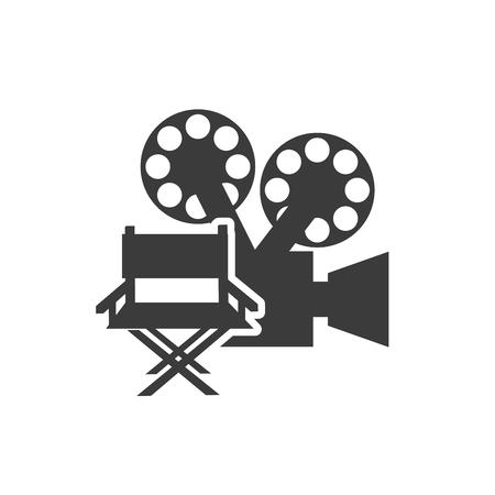 cinematograph: cinematographic camera with cinema icon vector illustration design