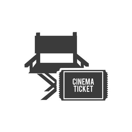 cinematographer: cinematographic director chair with cinema icon vector illustration design Illustration