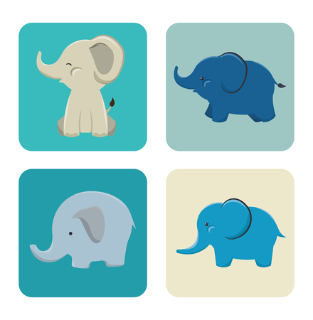 endangered: icon elephant design isolated vector illustration eps 10
