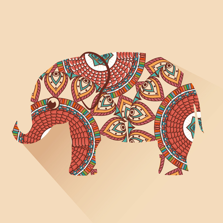 pachyderm: icon elephant design isolated vector illustration eps 10