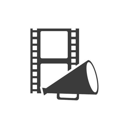 cinematograph: tape record with cinematographic icon vector illustration design