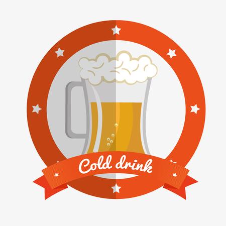 cartoon ice cool beer design design vector illustration eps 10