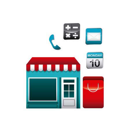 app store: app store set icons vector illustration design Illustration
