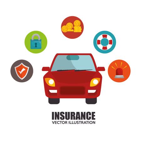 icon insurance car design vector illustration eps 10 Illustration