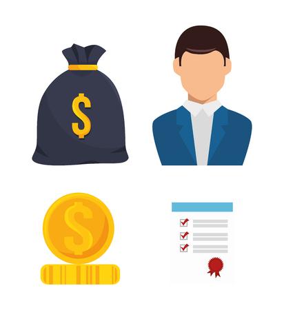 icon agent insurance set design vector illustration eps 10
