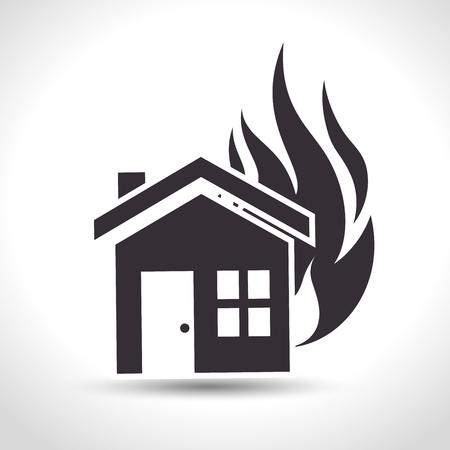 fire house: house insurance fire house design vector illustration eps 10