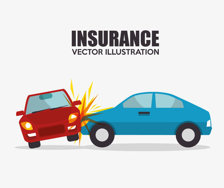 icon insurance car crash security design vector illustration eps 10