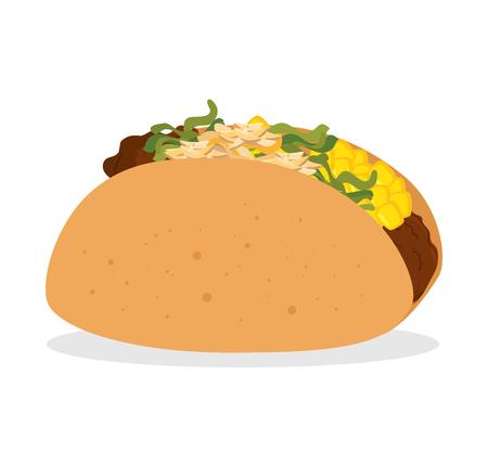 chili sauce: cartoon taco food mexico design isolated vector illustration eps 10