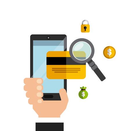 e shop: electronic commerce business icon vector illustration, eps10