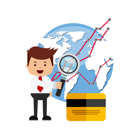 international stock exchange icons vector illustration, eps10