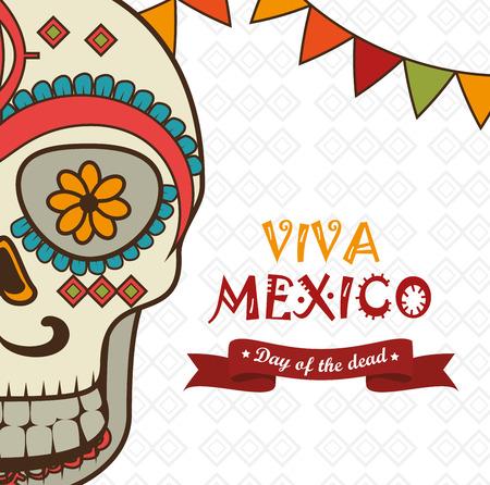 Icono del día del diseño de ilustración vectorial aislado mexicano eps 10 muertos