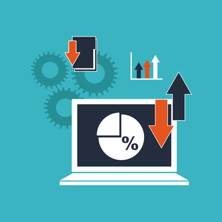 data management: big data management icons vector illustration design
