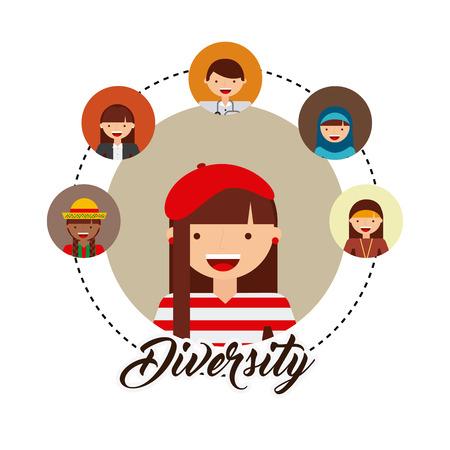 diversity of world cultures vector illustration design Illustration