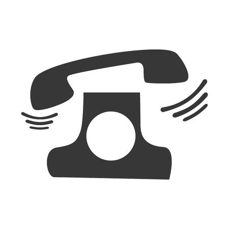 vintage telephone: retro telephone icon. communication phone vintage element. vector illustration Illustration