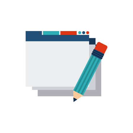 icons site search: template web page with seo icon vector illustration design Illustration