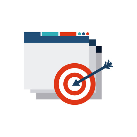 template web page with seo icon vector illustration design Illustration