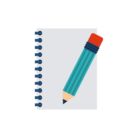 note pad: notebook with business icon vector illustration design
