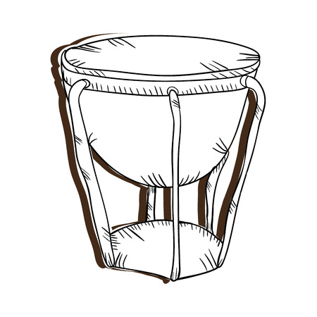 bongo drum: bongo drum musical instrument. traditional music element. vector illustration