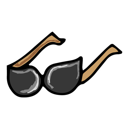 sunglasses accessory fashion eyewear. drawn design. vector illustration Illustration