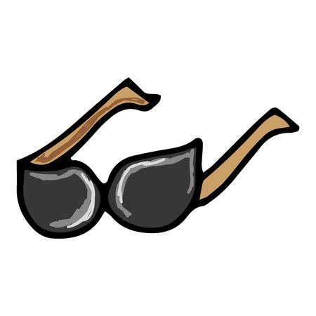eyewear: sunglasses accessory fashion eyewear. drawn design. vector illustration Illustration