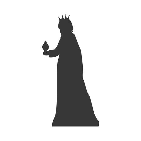 caspar: magi man king. christmas religious symbol. vector illustration Illustration