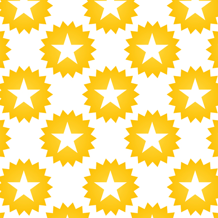 yellow star geometric shape icon. pattern background. vector illustration