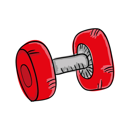 gym equipment: dumbbell weights gym equipment. fitness lifestyle. vector illustration