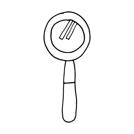 examine: lupe magnifying glass search explore instrument focus examine vector illustration