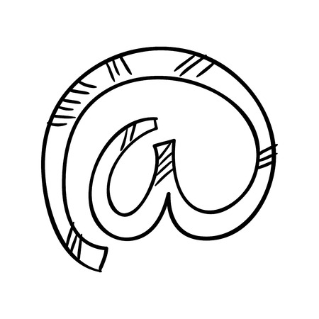 arobase: at sign arroba icon. enclosed a. vector illustration Illustration
