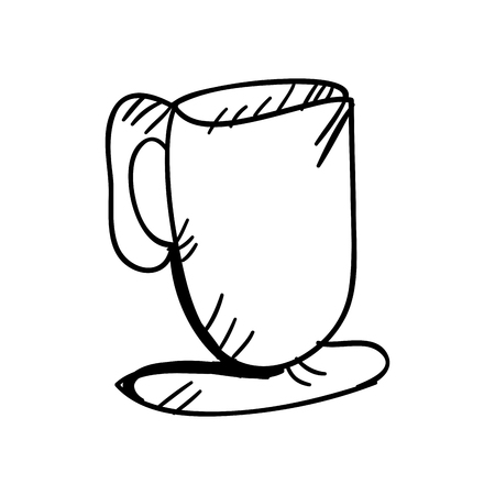 caffeine: coffee mug drink. caffeine beverage. vector illustration Illustration