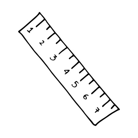 centimeters: ruler with centimeters numbers. drawn design. vector illustration